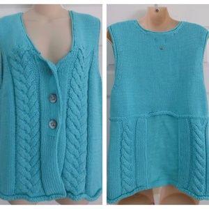 Beautiful Womens Pure Handknit Sz. M/L Vest